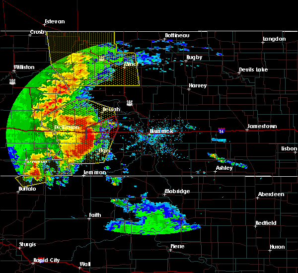 Radar Image for Severe Thunderstorms near Almont, ND at 7/7/2020 10:47 PM CDT