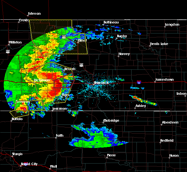 Radar Image for Severe Thunderstorms near Bucyrus, ND at 7/7/2020 9:51 PM MDT