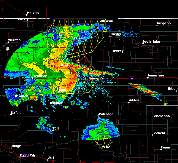 Radar Image for Severe Thunderstorms near Center, ND at 7/7/2020 11:21 PM CDT