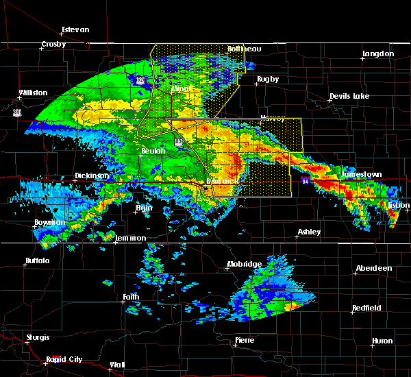 Radar Image for Severe Thunderstorms near Fessenden, ND at 7/8/2020 12:09 AM CDT