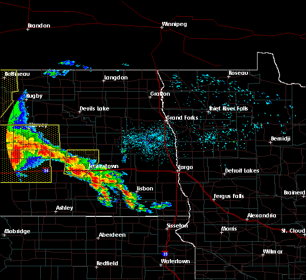 Radar Image for Severe Thunderstorms near Spiritwood Lake, ND at 7/8/2020 12:14 AM CDT