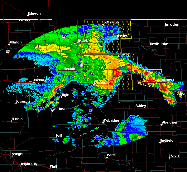 Radar Image for Severe Thunderstorms near Fessenden, ND at 7/8/2020 12:25 AM CDT