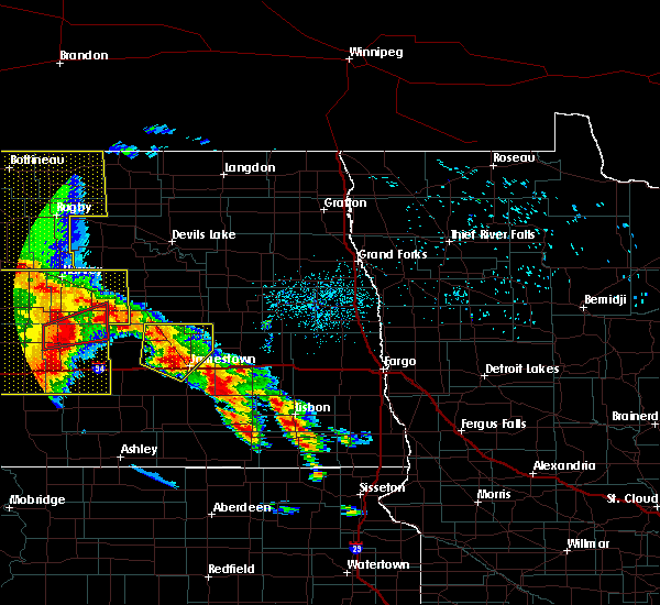 Radar Image for Severe Thunderstorms near Spiritwood Lake, ND at 7/8/2020 12:28 AM CDT