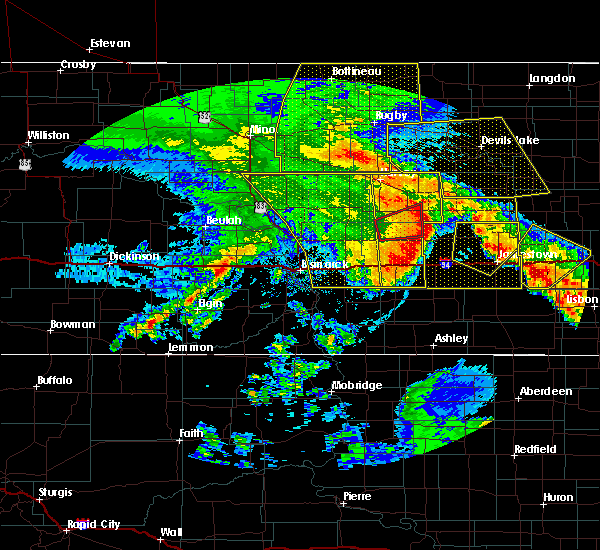 Radar Image for Severe Thunderstorms near Fessenden, ND at 7/8/2020 12:46 AM CDT