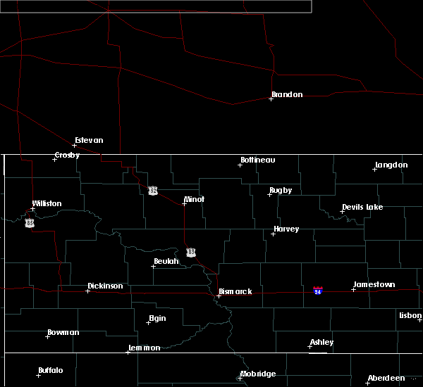 Radar Image for Severe Thunderstorms near Willow City, ND at 7/8/2020 1:03 AM CDT