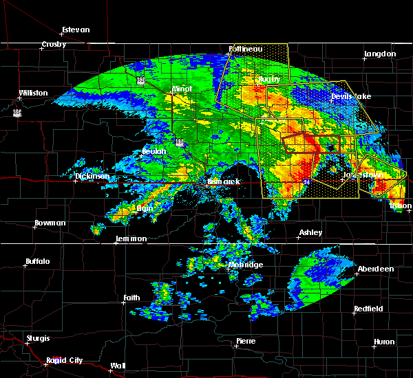 Radar Image for Severe Thunderstorms near Fessenden, ND at 7/8/2020 1:05 AM CDT