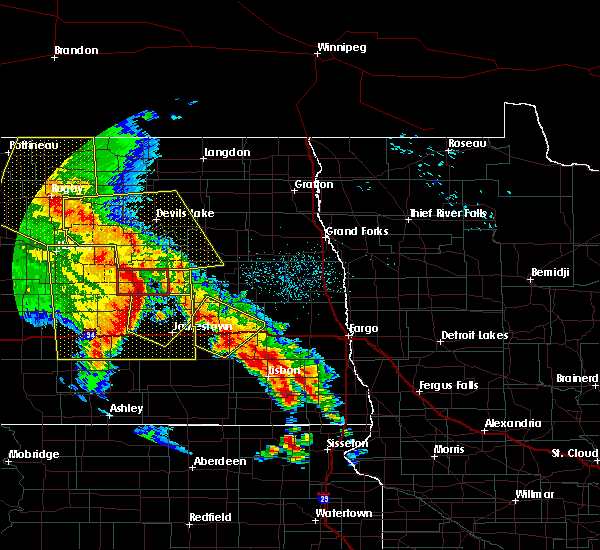 Radar Image for Severe Thunderstorms near Kindred, ND at 7/8/2020 1:11 AM CDT