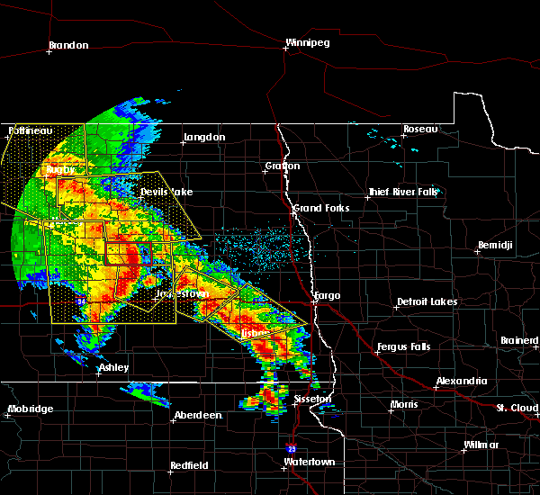 Radar Image for Severe Thunderstorms near Kindred, ND at 7/8/2020 1:18 AM CDT