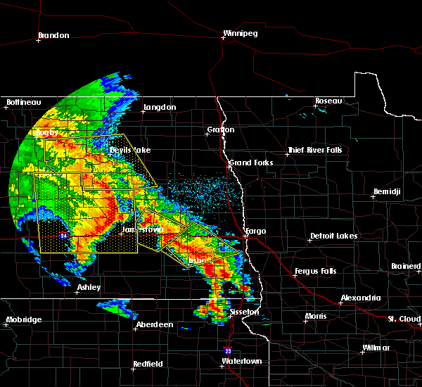 Radar Image for Severe Thunderstorms near Glenfield, ND at 7/8/2020 1:23 AM CDT