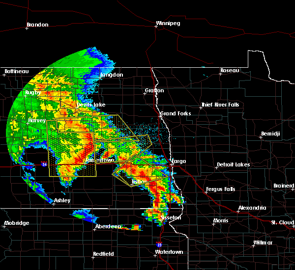 Radar Image for Severe Thunderstorms near Glenfield, ND at 7/8/2020 1:37 AM CDT