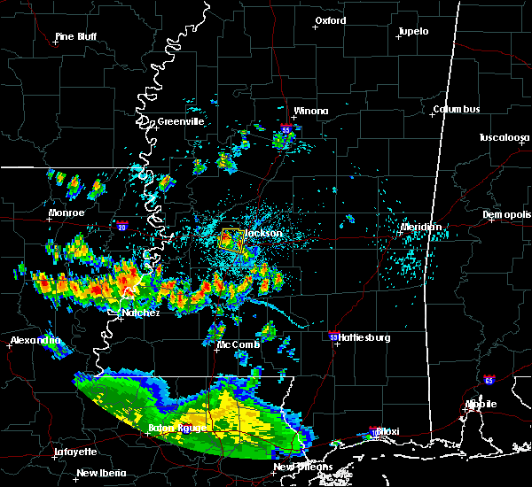 Radar Image for Severe Thunderstorms near Raymond, MS at 6/30/2015 5:50 PM CDT