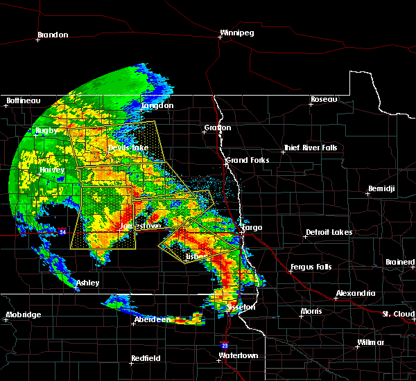Radar Image for Severe Thunderstorms near Kindred, ND at 7/8/2020 1:47 AM CDT