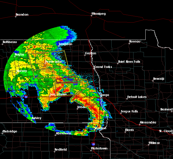 Radar Image for Severe Thunderstorms near Finley, ND at 7/8/2020 1:49 AM CDT