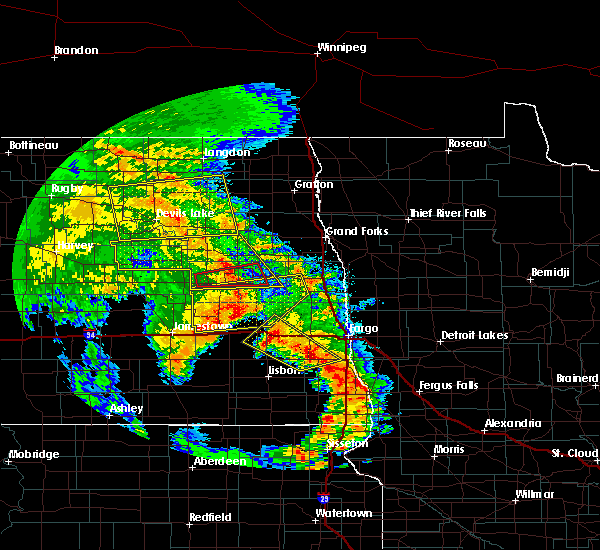 Radar Image for Severe Thunderstorms near Finley, ND at 7/8/2020 2:07 AM CDT