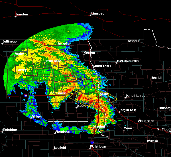 Radar Image for Severe Thunderstorms near Harwood, ND at 7/8/2020 2:15 AM CDT