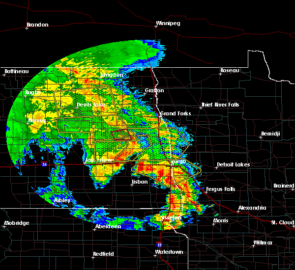 Radar Image for Severe Thunderstorms near Michigan City, ND at 7/8/2020 2:25 AM CDT