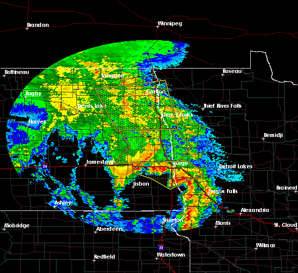Radar Image for Severe Thunderstorms near Oakport, MN at 7/8/2020 2:52 AM CDT