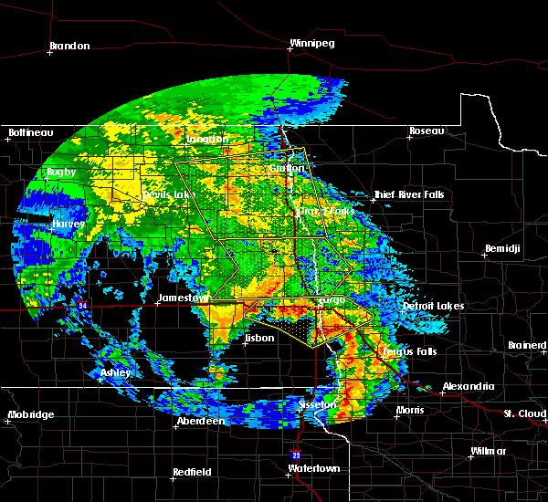 Radar Image for Severe Thunderstorms near Fargo, ND at 7/8/2020 2:52 AM CDT