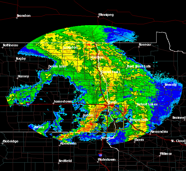 Radar Image for Severe Thunderstorms near Fargo, ND at 7/8/2020 3:25 AM CDT