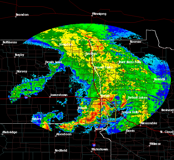 Radar Image for Severe Thunderstorms near Kent, MN at 7/8/2020 3:45 AM CDT