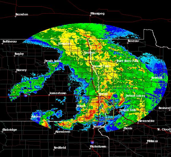 Radar Image for Severe Thunderstorms near Fargo, ND at 7/8/2020 3:45 AM CDT