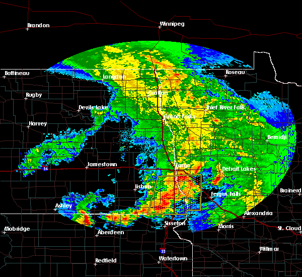 Radar Image for Severe Thunderstorms near Kent, MN at 7/8/2020 3:52 AM CDT