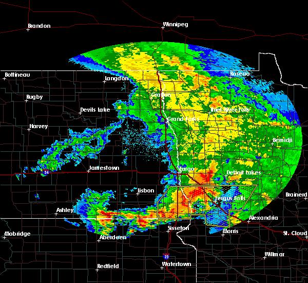 Radar Image for Severe Thunderstorms near Fergus Falls, MN at 7/8/2020 4:17 AM CDT
