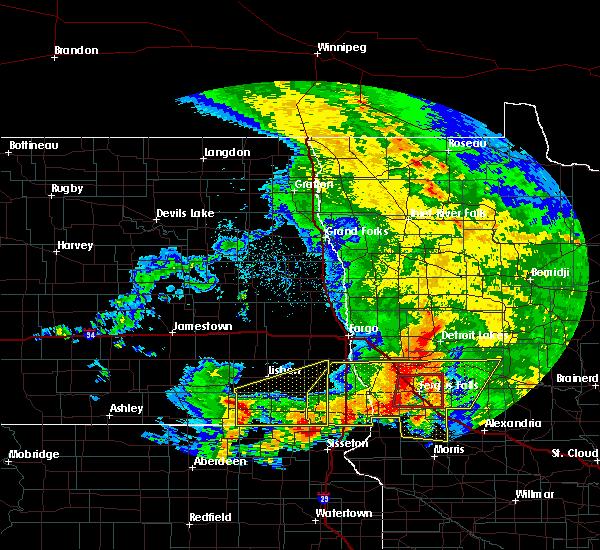 Radar Image for Severe Thunderstorms near Fergus Falls, MN at 7/8/2020 4:30 AM CDT