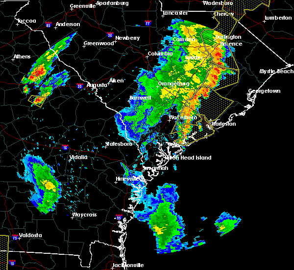 Radar Image for Severe Thunderstorms near Lincolnville, SC at 6/30/2015 6:52 PM EDT