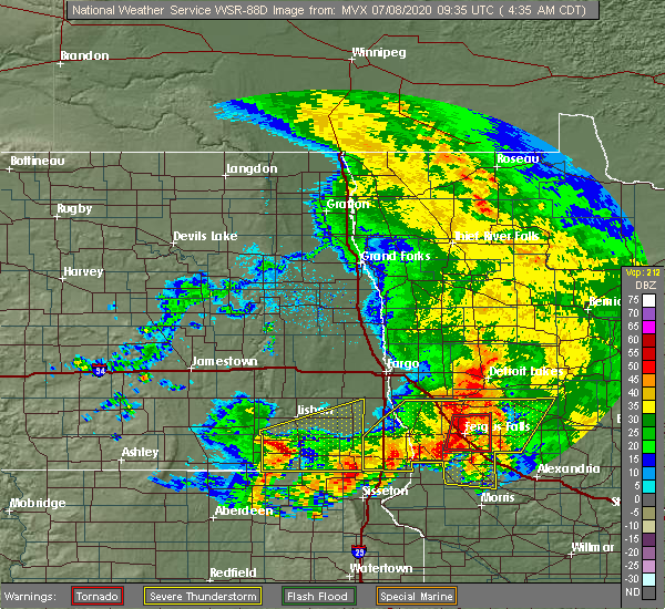 Radar Image for Severe Thunderstorms near Battle Lake, MN at 7/8/2020 4:42 AM CDT