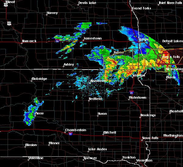 Radar Image for Severe Thunderstorms near Cogswell, ND at 7/8/2020 4:48 AM CDT