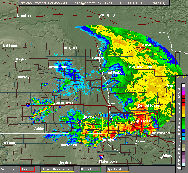 Radar Image for Severe Thunderstorms near Battle Lake, MN at 7/8/2020 4:58 AM CDT