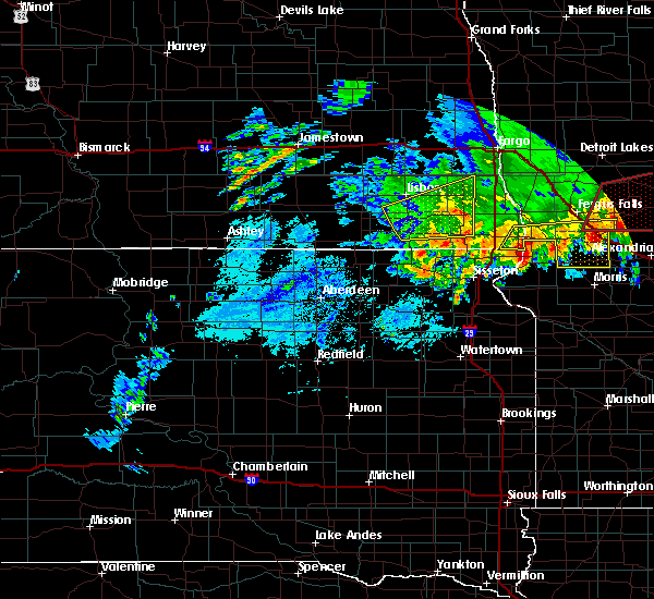 Radar Image for Severe Thunderstorms near Cogswell, ND at 7/8/2020 5:09 AM CDT