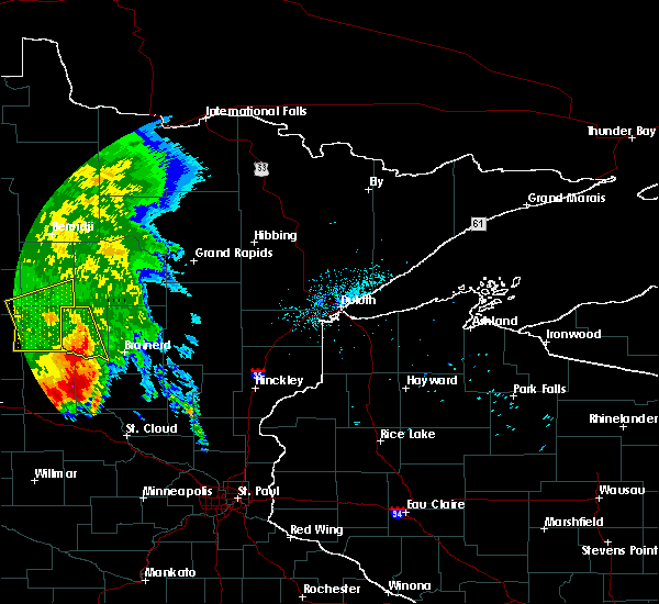 Radar Image for Severe Thunderstorms near Ironton, MN at 7/8/2020 6:17 AM CDT