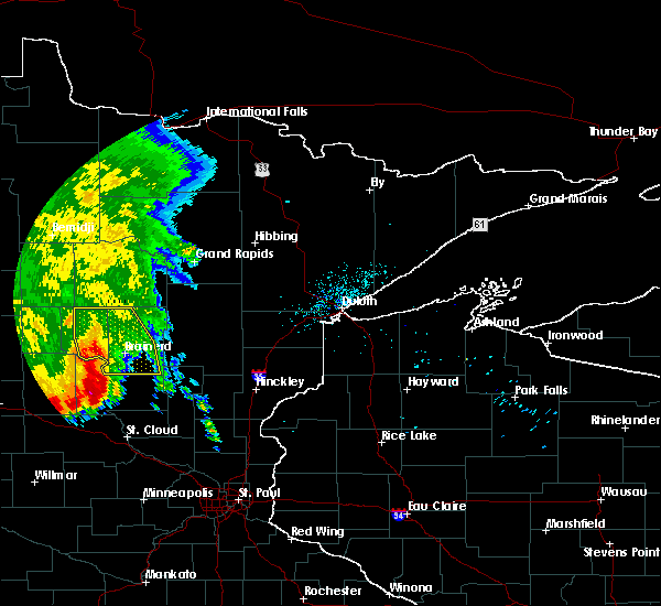 Radar Image for Severe Thunderstorms near Merrifield, MN at 7/8/2020 6:33 AM CDT