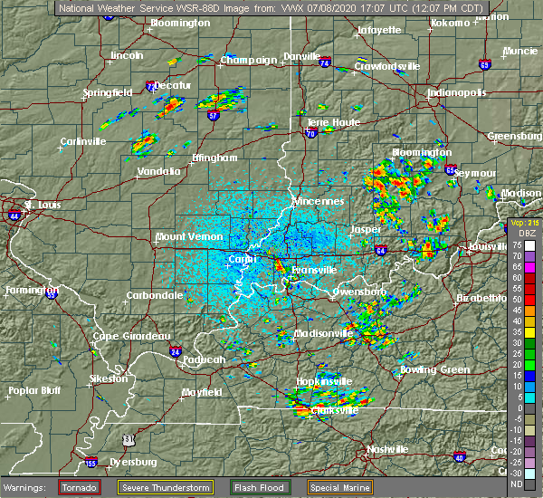 Radar Image for Severe Thunderstorms near Highland, IN at 7/8/2020 12:15 PM CDT