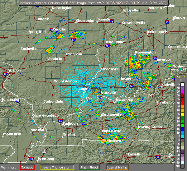 Radar Image for Severe Thunderstorms near Highland, IN at 7/8/2020 12:24 PM CDT