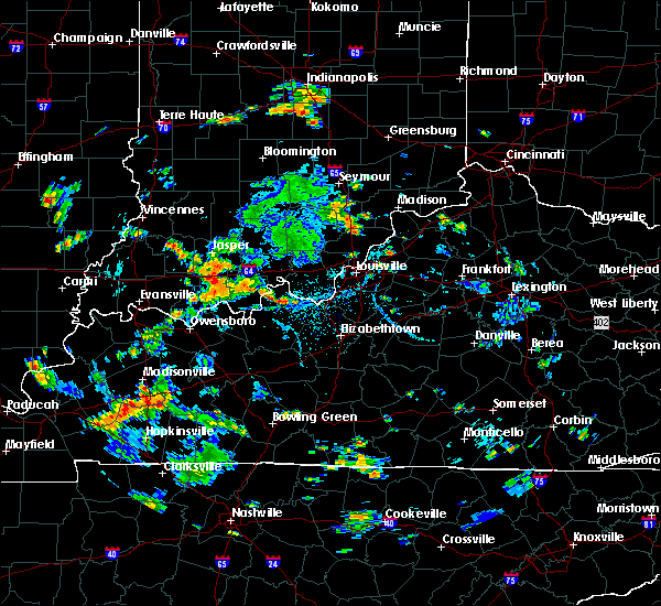 Radar Image for Severe Thunderstorms near Worthington Hills, KY at 7/8/2020 3:45 PM EDT