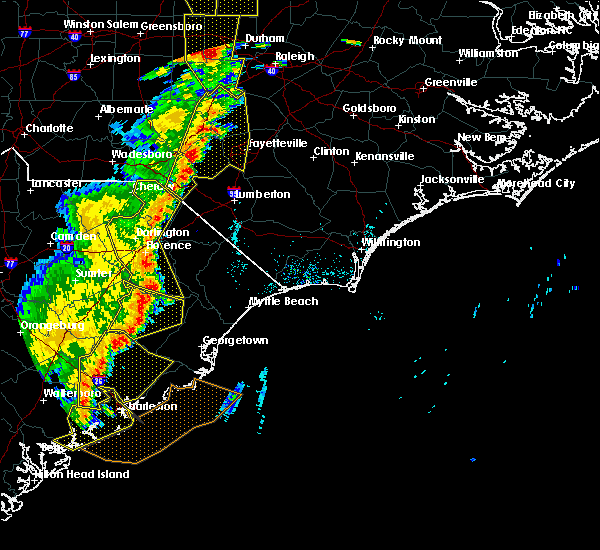 Radar Image for Severe Thunderstorms near Orrum, NC at 6/30/2015 6:58 PM EDT