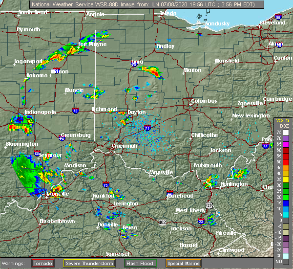Radar Image for Severe Thunderstorms near Kenton, OH at 7/8/2020 4:01 PM EDT