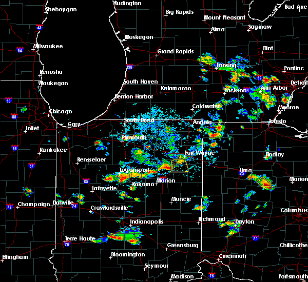 Radar Image for Severe Thunderstorms near Fort Wayne, IN at 7/8/2020 4:18 PM EDT