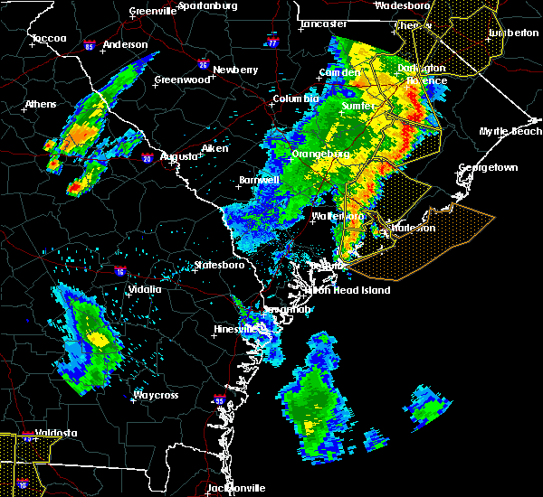Radar Image for Severe Thunderstorms near Kiawah Island, SC at 6/30/2015 7:02 PM EDT
