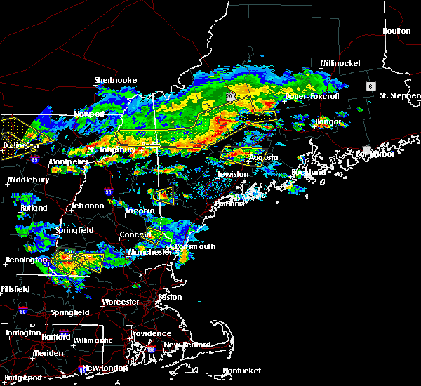 Radar Image for Severe Thunderstorms near Hartland, ME at 7/8/2020 4:57 PM EDT