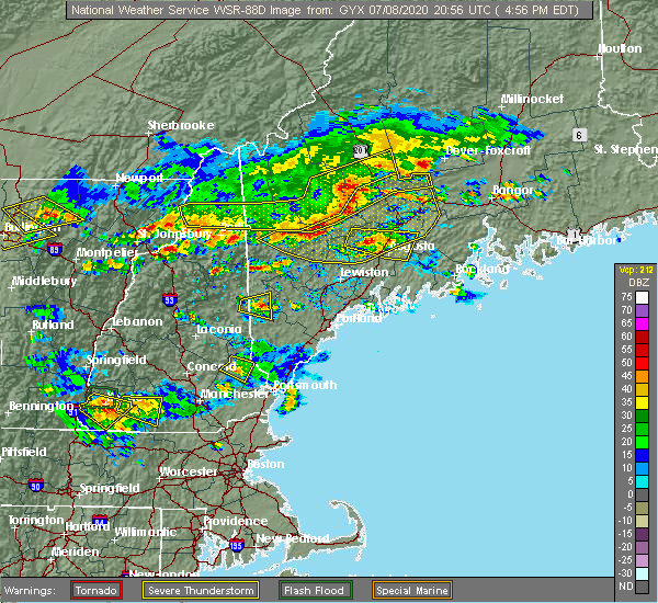 Radar Image for Severe Thunderstorms near Standish, ME at 7/8/2020 5:02 PM EDT