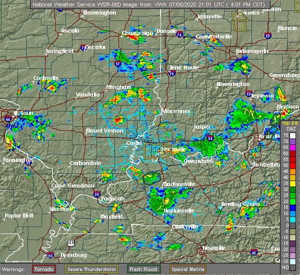Radar Image for Severe Thunderstorms near Highland, IN at 7/8/2020 4:08 PM CDT