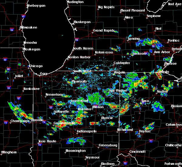 Radar Image for Severe Thunderstorms near Rockford, OH at 7/8/2020 5:38 PM EDT