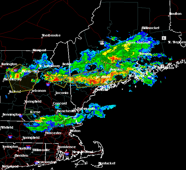 Radar Image for Severe Thunderstorms near Gray, ME at 7/8/2020 6:09 PM EDT