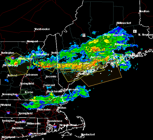 Radar Image for Severe Thunderstorms near Standish, ME at 7/8/2020 6:17 PM EDT