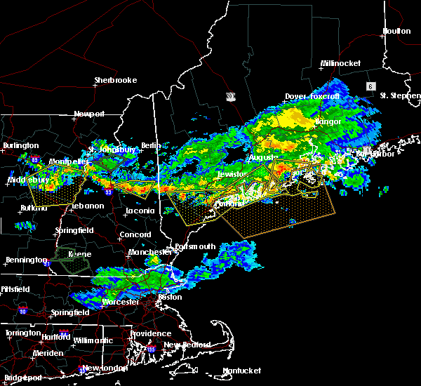 Radar Image for Severe Thunderstorms near Melvin Village, NH at 7/8/2020 6:38 PM EDT