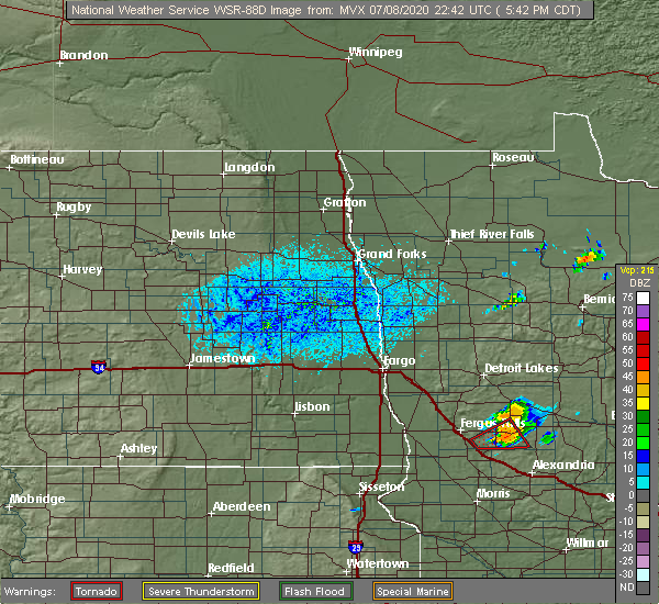 Radar Image for Severe Thunderstorms near Battle Lake, MN at 7/8/2020 5:48 PM CDT